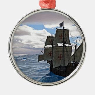 Grova hav framåt julgransprydnad metall