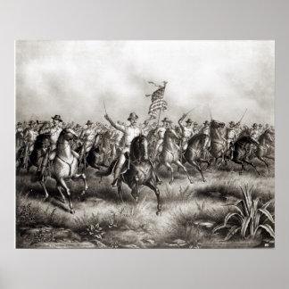 Grova ryttare: Överste Theodore Roosevelt Print