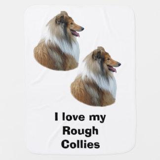 Grovt foto för Colliehundporträtt Bebisfilt