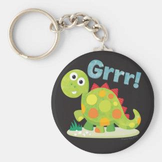 Grrr! Dinosaur Keychain Rund Nyckelring