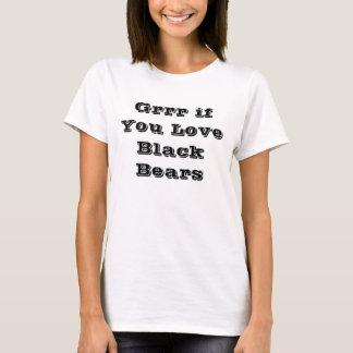 Grrr om dig lobsvartbjörnar t-shirts