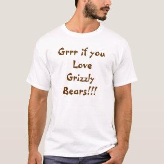 Grrr, om du älskar grizzlybjörnar t-shirts