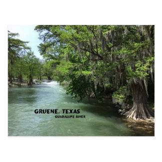Gruene, Texas och Guadalupe River Vykort