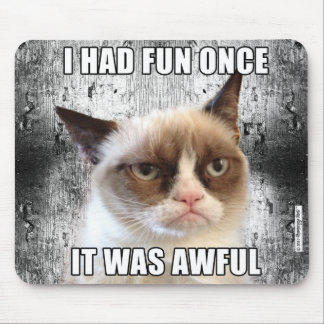 Grumpy Cat™ Mousepad - jag hade roligt en gång Musmatta