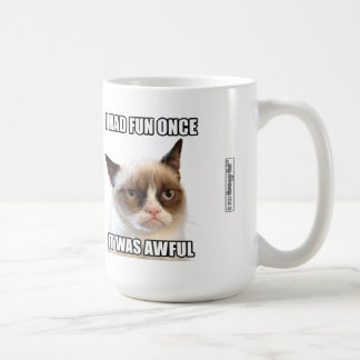 "Grumpy Cat™ mugg - ""hade jag roligt en gång. Den"