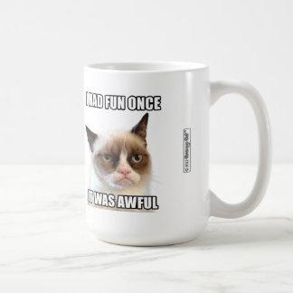 """Grumpy Cat™ mugg - """"hade jag roligt en gång. Den v"""