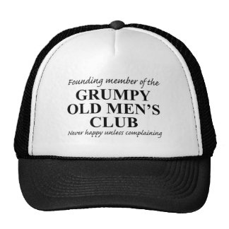 Grumpy gamal man klubb keps