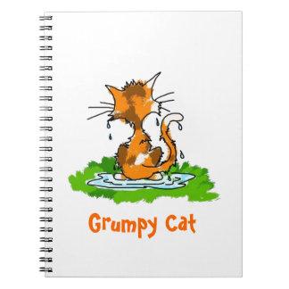Grumpy katt anteckningsbok