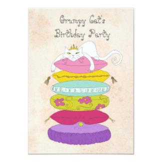 Grumpy katt födelsedagsfestinbjudan 11,4 x 15,9 cm inbjudningskort