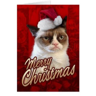 Grumpy katt för god jul
