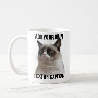 Grumpy kattilsken blick - tillfoga din egna text kaffemugg