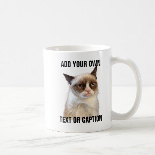 Grumpy kattilsken blick - tillfoga din egna text mugg