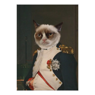 Grumpy kattklassikermålning poster