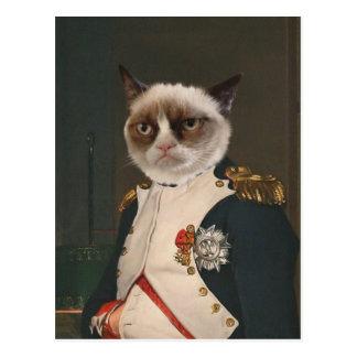 Grumpy kattklassikermålning vykort