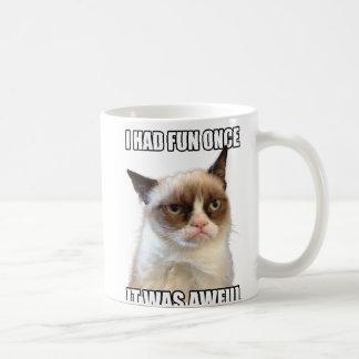 Grumpy kattmugg vit mugg