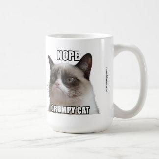 "Grumpy kattmugg - NOPE. GRUMPY KATT "", Kaffemugg"