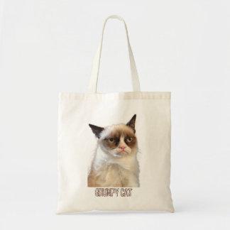 Grumpy katttoto - färg tote bags