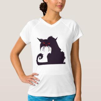 Grumpy svart kattkvinna utslagsplats för aktiv t shirts