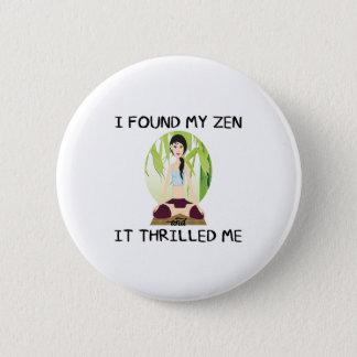 """""""Grundar jag min Zen"""" knäppas Standard Knapp Rund 5.7 Cm"""
