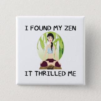 """""""Grundar jag min Zen"""" kvadrerar knäppas Standard Kanpp Fyrkantig 5.1 Cm"""