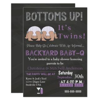 Grunder kopplar samman upp Baby-qbaby 12,7 X 17,8 Cm Inbjudningskort