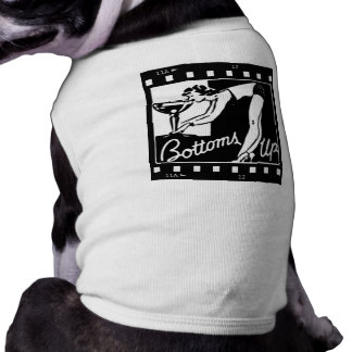 Grunder Up den Retro damen som dricker enorma Mart T-shirt För Husdjur