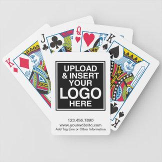 Grundläggande affärslogotyp med beställnings- text spelkort