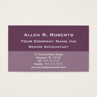 Grundläggande företags mjuk plommon för elegant visitkort