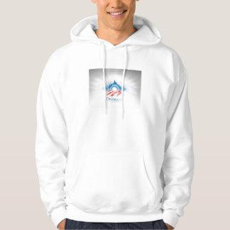 grundläggande Hooded tröja Obama'08