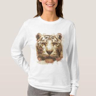 Grundläggande ljusa damer för tigertryck t-shirt
