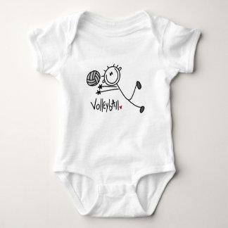 Grundläggande Male stick figurvolleyboll T-shirt