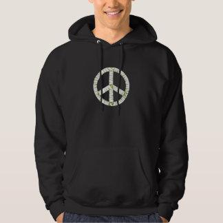 Grundläggande mörk Hooded tröja för