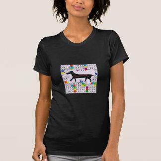 Grundläggande mörkt korsord för T-tröja w/Dog & Tröja