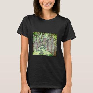grundläggande t-skjorta för kvinnor svart t-shirt