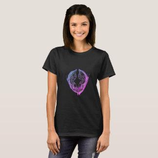 grundläggande t-skjorta för kvinnor svart tee