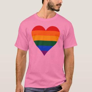 Grundläggande T-tröja för LGBT-pridehjärta Tee Shirts