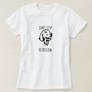 Grundläggande T-tröja för rolig guld- Retriever Tee