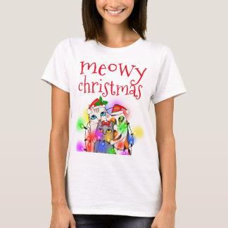 Grundläggande T-tröja för roliga julkattälskare Tee Shirts