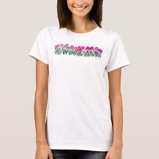 Grundläggande T-tröja för rosa tulpandunge Tee