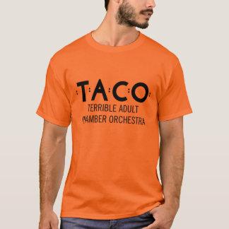 Grundläggande TACOT-tröja, orange och svart T-shirt