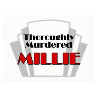 Grundligt mördade Millie Vykort