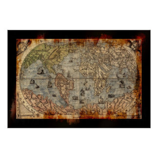 Grunge åldras affisch för konst för karta för poster