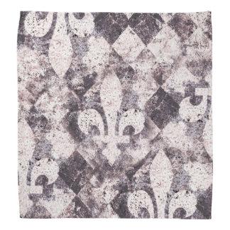 Grunge fleur de lis på purpurfärgad dimond scarf
