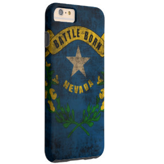 Grunge för Nevada flaggavintage Tough iPhone 6 Plus Fodral
