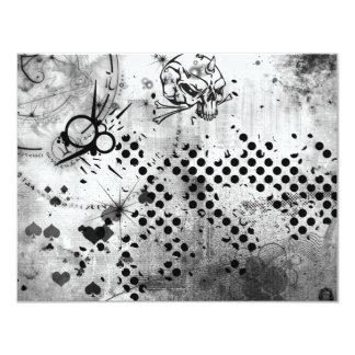 Grunge smutsar ner ursinne 10,8 x 14 cm inbjudningskort