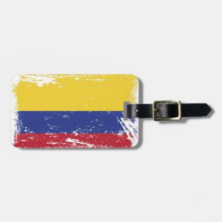 GrungeColombia flagga Bagagebricka