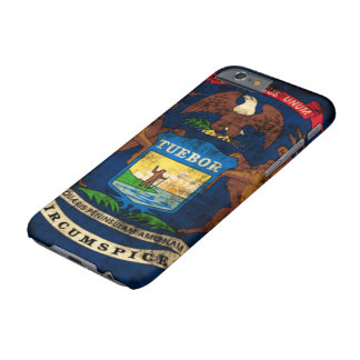 GrungeMichigan flagga Barely There iPhone 6 Fodral