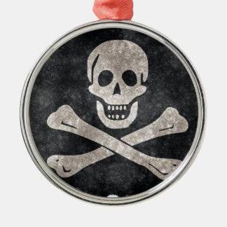 Grungepiratflagga Julgransprydnad Metall