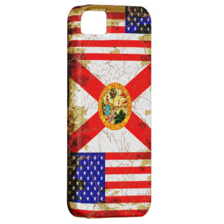 Grungestil Florida och USA flaggor iPhone 5 Case-Mate Skal