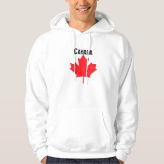 Grungy kanadensisk lönnlöv sweatshirt